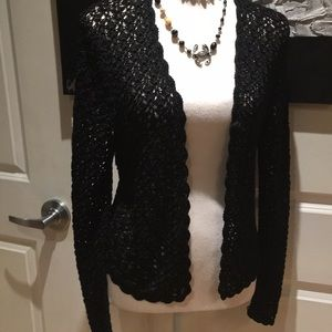 Crochet Cardigan Black